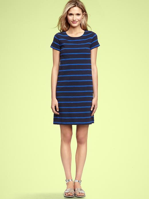 Striped crewneck dress