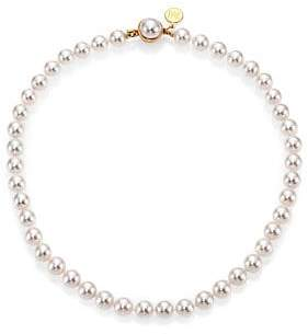Majorica 8MM White Pearl Strand Necklace/16""