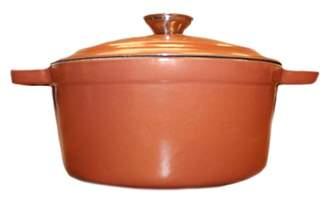 Copper Cast Iron 8 qt. Oval Covered Casserole