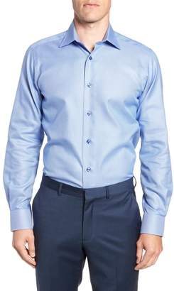 David Donahue Slim Fit Solid Dress Shirt