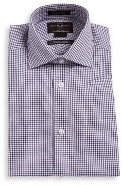Black & Brown Black Brown Checkered Cotton Dress Shirt