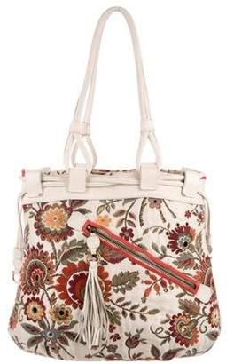 Salvatore Ferragamo Embroidered Drawstring Shoulder Bag