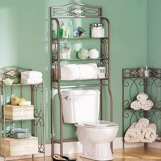 "Fleur De Lis Living Zula Space saver 27.25"" W x 66.5"" H Over the Toilet Storage"