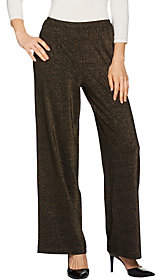 Joan Rivers Classics Collection Joan Rivers Petite Length Shimmering KnitPull-On Pants