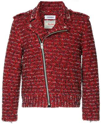 Coohem biker tweed jacket