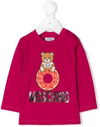 Moschino Kids teddy doughnut logo printed top