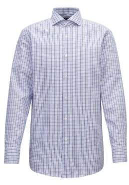 BOSS Hugo Slim-fit shirt in Oxford cotton gingham check 14.5/R Dark pink