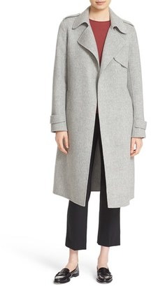 Theory 'Oaklane DF New Divid' Wool & Cashmere Trench Coat $795 thestylecure.com