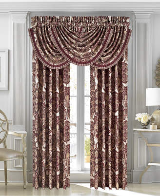 "J Queen New York Rosewood Burgundy 33"" x 49"" Waterfall Window Valance Bedding"