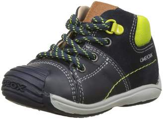 Geox Boy's B Shaax BOY Sneakers, Navy/Lime Green