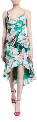 Parker Colleen Floral V-Neck Sleeveless High-Low Dress