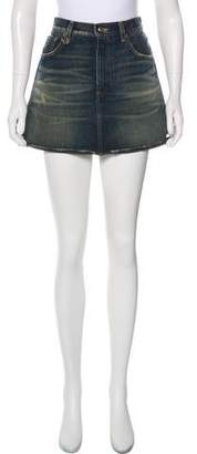 R 13 Denim Mini Skirt