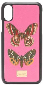 Dolce & Gabbana Butterfly Print Iphone X Case - Womens - Pink Multi