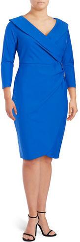 Alex EveningsAlex Evenings Plus Embellished Surplice Sheath Dress