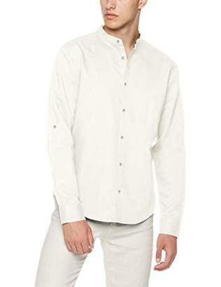 2e701e2de1618e Isle Bay Linens Men's Slim-Fit Linen Cotton Blend Roll-up Long Sleeve Band