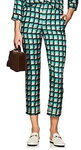 Barneys New York Women's Geometric Silk Pajama Trousers