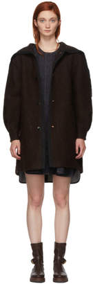 See by Chloe Brown Oversized Coat