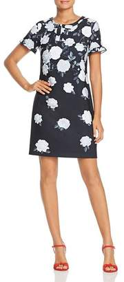 Karl Lagerfeld Paris Rose Print Shift Dress
