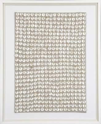 Mother of Pearl Bandhini Fabric Artwork