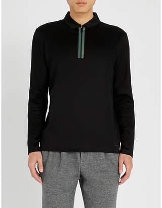 HUGO Placket-detail cotton-jersey polo shirt