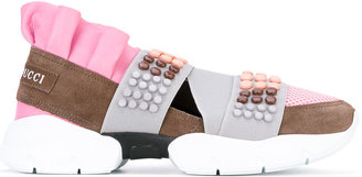 Emilio Pucci beaded strap trainers $613.04 thestylecure.com