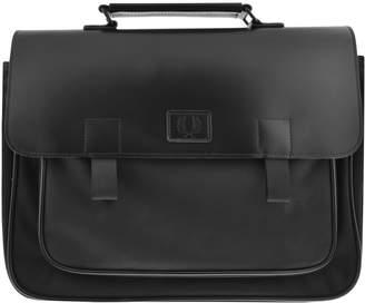 Fred Perry Leather Trim Shoulder Bag Black
