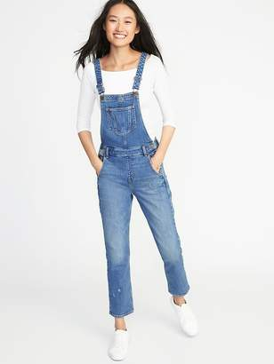 Old Navy Straight-Leg Denim Overalls for Women
