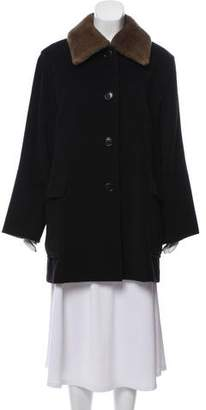 Max Mara Shearling-Trimmed Wool Coat