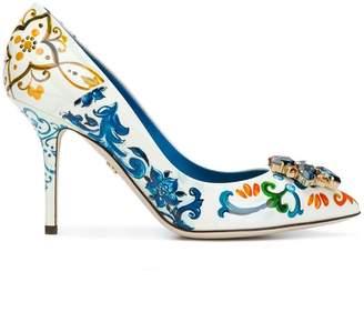 Dolce & Gabbana Majolica-print Bellucci pumps