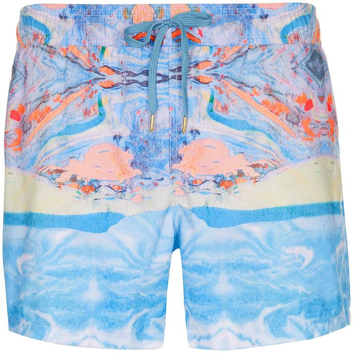 Topman Marble Swim Shorts