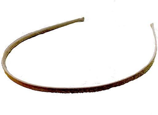 Brown Silk Skinny Headband