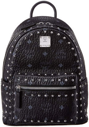 MCM Stark Mini Outline Studded Visetos Backpack