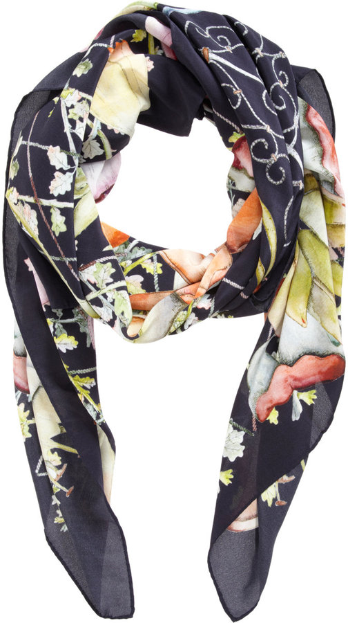 Swash Midnight Heligan Garden Scarf