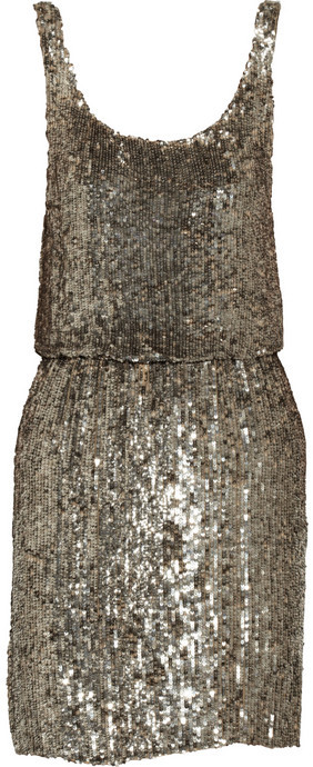 Alice + Olivia Gabby sequined silk mini dress
