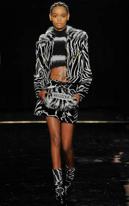 Versace Printed Cotton-Blend Collared Jacket
