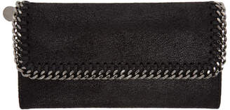 Stella McCartney Black Falabella Flap Wallet