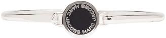 Marc Jacobs Silver Enamel Logo Disc Bracelet $55 thestylecure.com