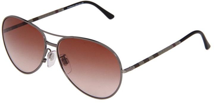 Burberry BE3056 (Gunmetal Brown Gradient) - Eyewear