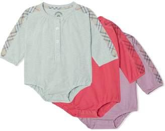 Burberry three-piece onesie set
