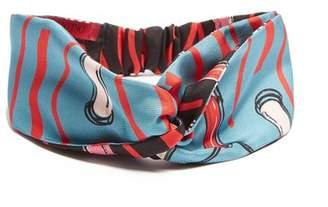 Valentino Blue Lipstick Print Headband - Womens - Blue