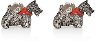 Barneys New York MEN'S SCOTTIE CUFFLINKS - SILVER