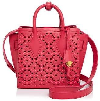 MCM Milla Small Perforated Tote