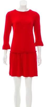 Miu Miu Long Sleeve Knit Mini Dress