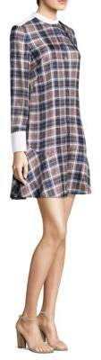 Tory Burch Cora Plaid Silk Dress