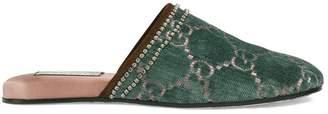 Gucci GG velvet slippers