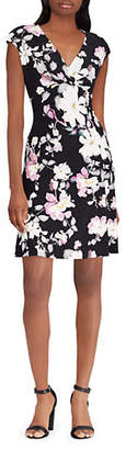 Chaps Floral Cap Sleeve Day Dress