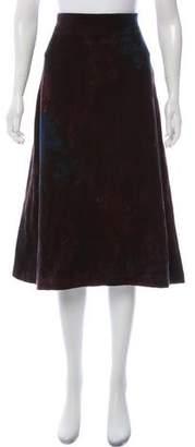 Issey Miyake Printed Wool Skirt