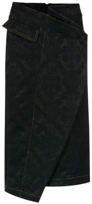 Reinaldo Lourenço asymmetric midi skirt