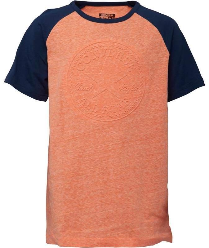Junior Boys Chuck Patch Raglan T-Shirt Wild Mango Marl