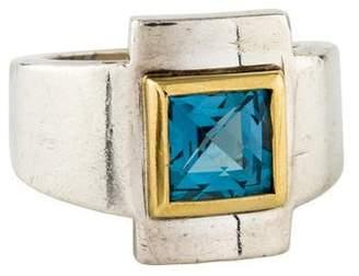 Robert Lee Morris Topaz Geometric Ring